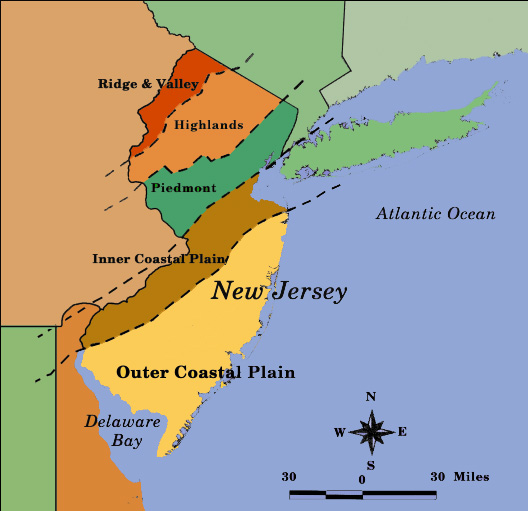 Plants Of Southern New Jersey - Us physiographic regions map