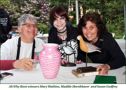 Ah Why Knot winners Mary Watkins, Maddie Hornblower and Susan Godfrey