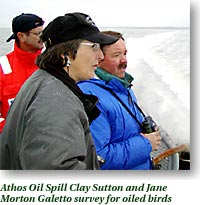 Athos Oil Spill-Clay Sutton and Jane Morton Geletto survey for oiled birds