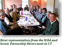 River representative from the Wild and Scenic Partnership Rivers meet in CT