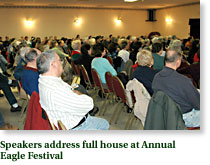 Speakers address full house atEagle Festival