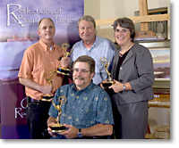 "CU took home the EMMY for ""Reflections of a Bayshore Painter - Glenn Rudderow,"" in the category of Arts/ Special Program"