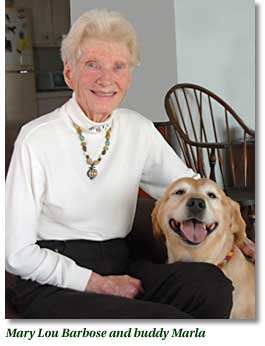 Mary Lou Barbose and buddy, Maria