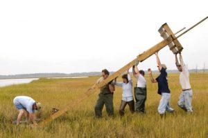 Hoisting Osprey Nest