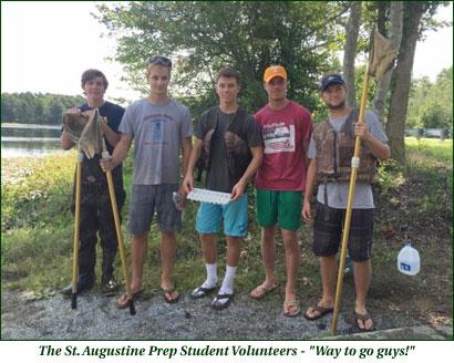 St. Augustine Prep volunteers