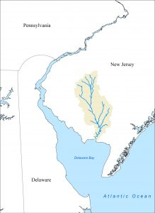Maurice River watershed map