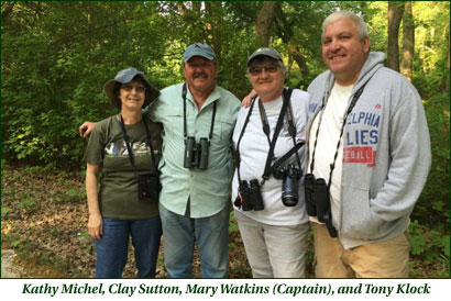 Kathy Michel, Clay Sutton, Mary Watkins (Captain). and Tony Klock