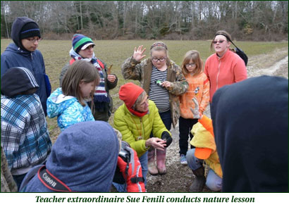 Sue Fenili conducts nature lesson