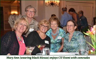 Mary Ann enjoys CU Event with comrades