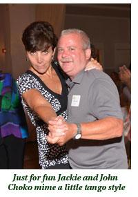 Jackie and John Choko mime tango