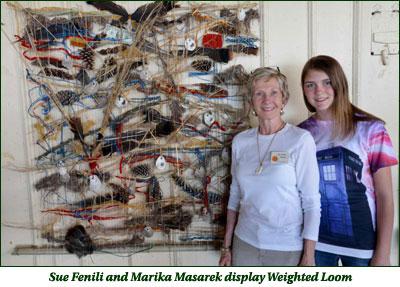 Sue Fenilli and Marika Masarek display Weighted Loom