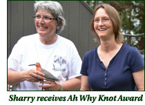 Sherry receives Ah Why Knot Award