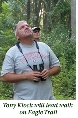 Tony Klock leads walk on Eagle Trail