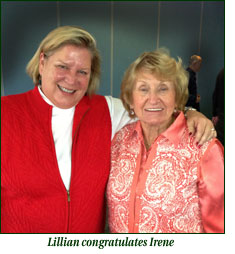Lillian congratulates Irene