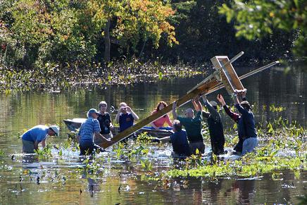 Raising osprey platform