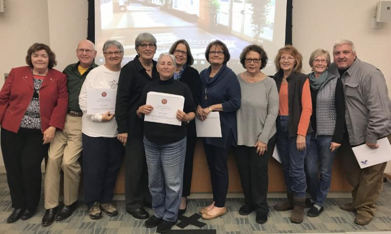 Those individuals accumulating over 100 hours (and in some cases 300) were Mary Ann Russell, Christine Brown, Suzanne Olah, Suzanne Merighi, Gary Moellers, Sue Fenili, John Healy, Tony Klock, Wendy Walker, Mary Watkins, Leslie Ficcaglia, and Carl Homan.