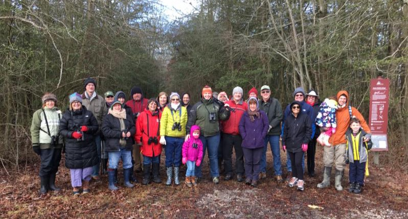 A great turn out for the annual Eagle Trail Walk