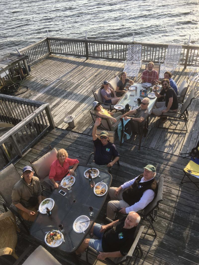 International Shorebird Recovery Team Enjoys Bayside Meal