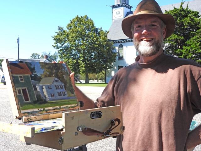 Outdoor artist in Mauricetown