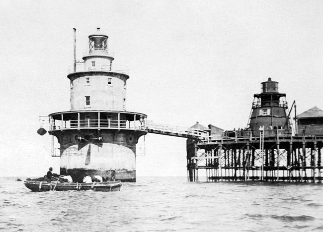 Miah Maull Light (historic photo)