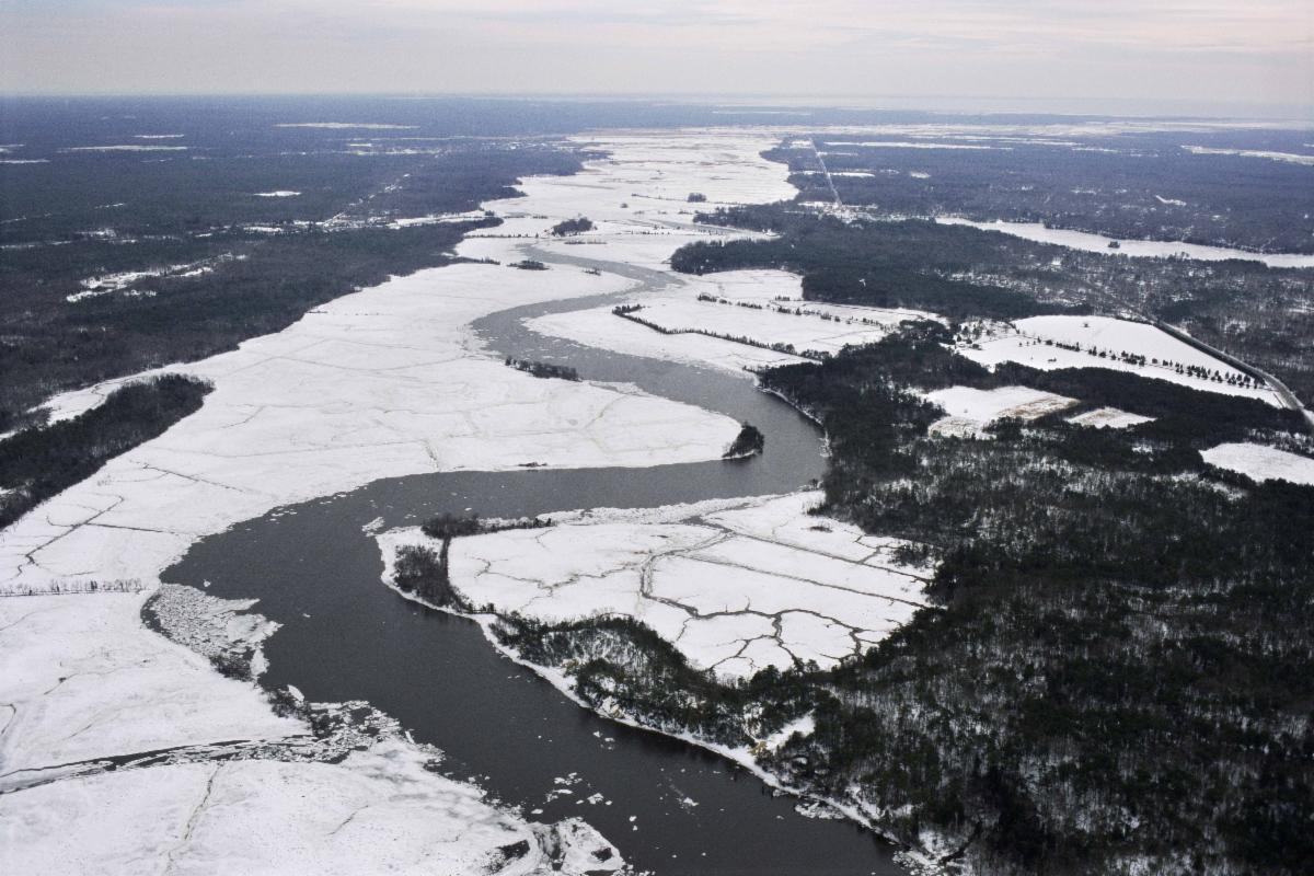 Snow in 2010 Maurice River Foreground TNC Bluffs Preserve